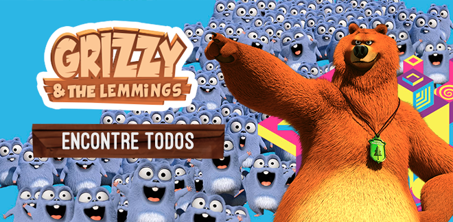 Encontre todos - Grizzy and the Lemmings
