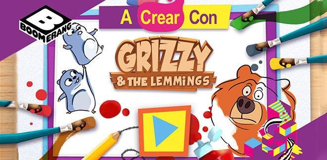 A crear con Grizzy and the Lemmings