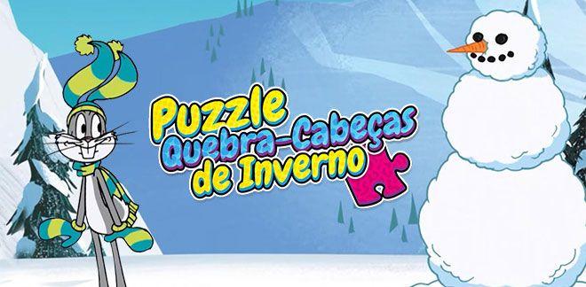 Puzzle Quebra-Cabeças de Inverno-New Looney Tunes