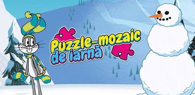 Puzzle-mozaic de iarnă-New Looney Tunes