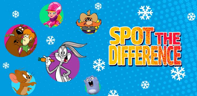 Winter Spot the Difference-New Looney Tunes