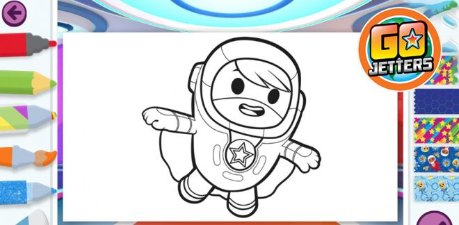 Go Jetters - Colouring Game