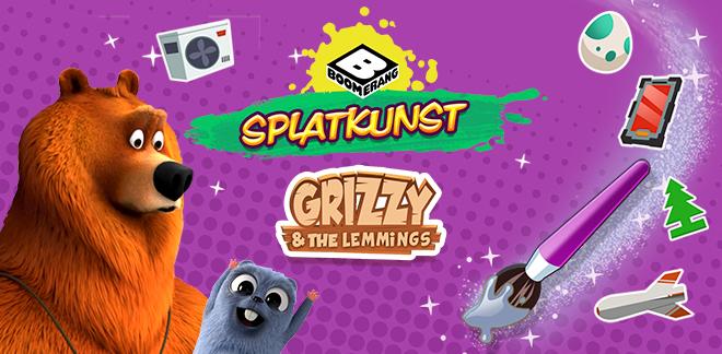 Grizzy og lemmingerne Splatkunst