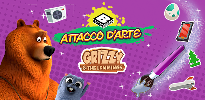 Grizzy e i Lemming Attacco d'arte