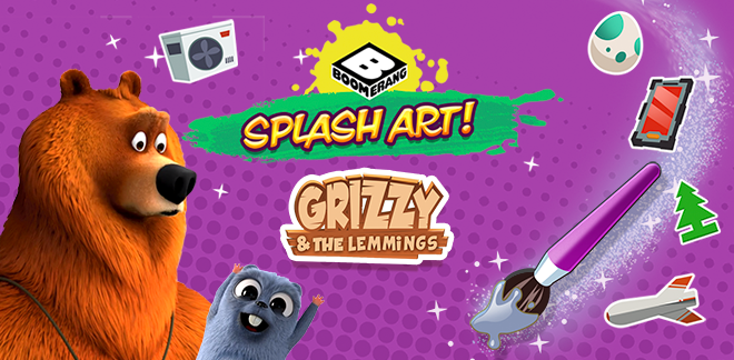 Гриззи и лемминги Веселое рисование