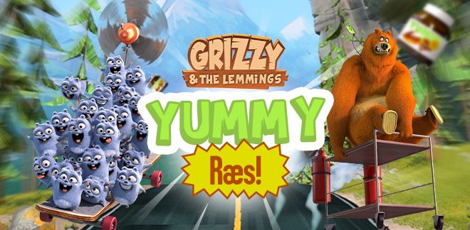 Grizzy og lemmingerne - Yummy Ræs!
