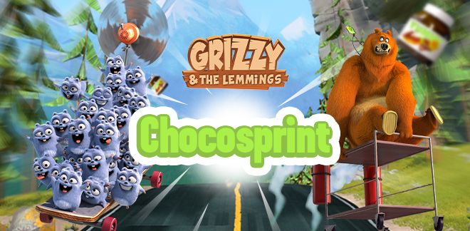 Grizzy en de Lemmings - Chocosprint