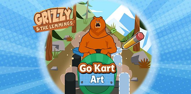 Grizzy and The Lemmings - Go Kart Art