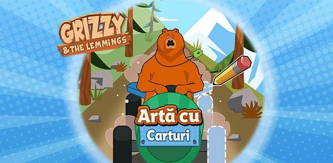 Grizzy și lemingii - Artă cu carturi