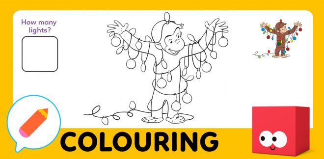 Colour In Curious George!