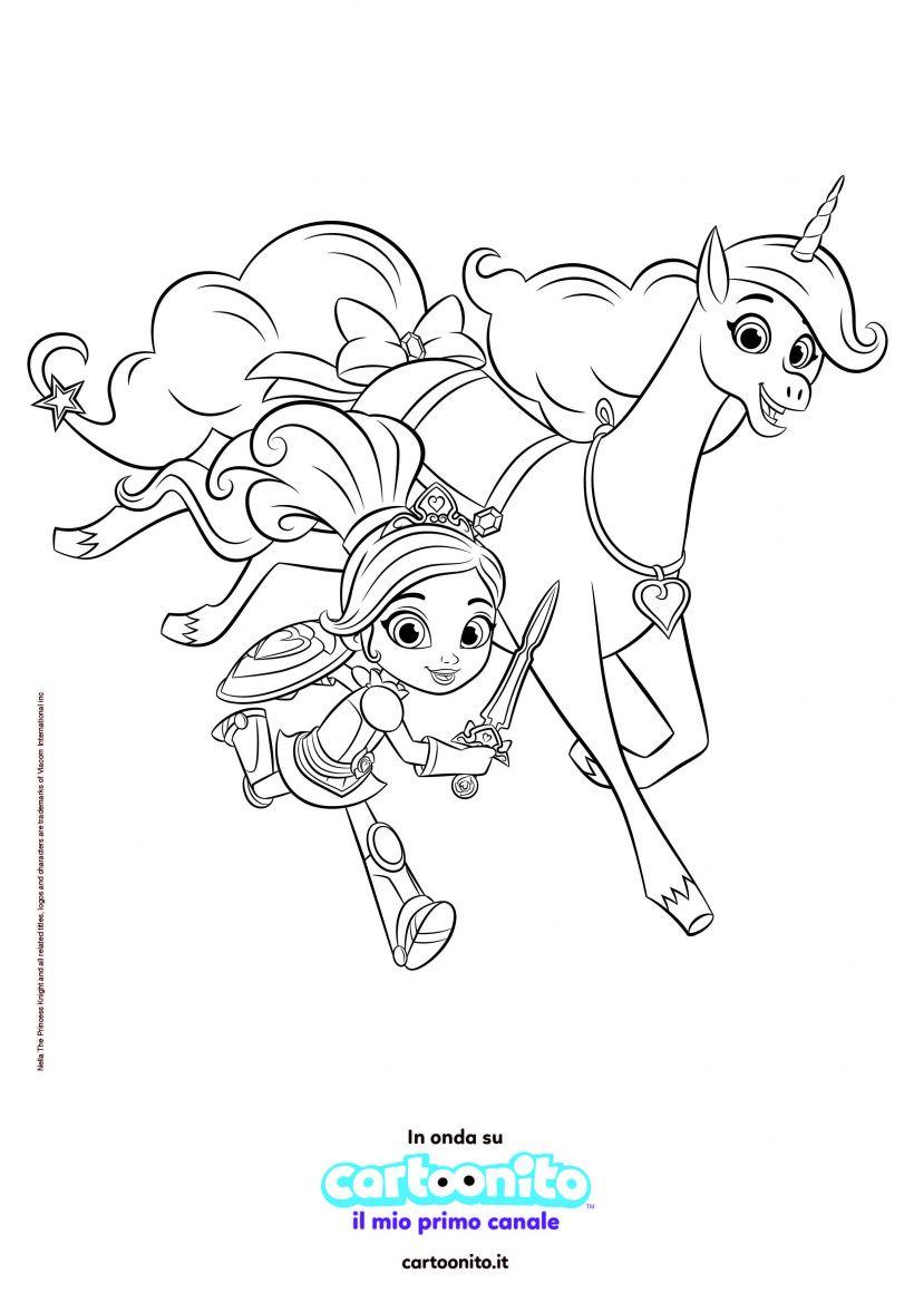 Colora Nella, la principessa coraggiosa!