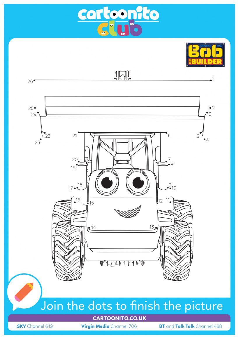 Dot-to-dot Scoop | Bob the Builder | Cartoonito Club