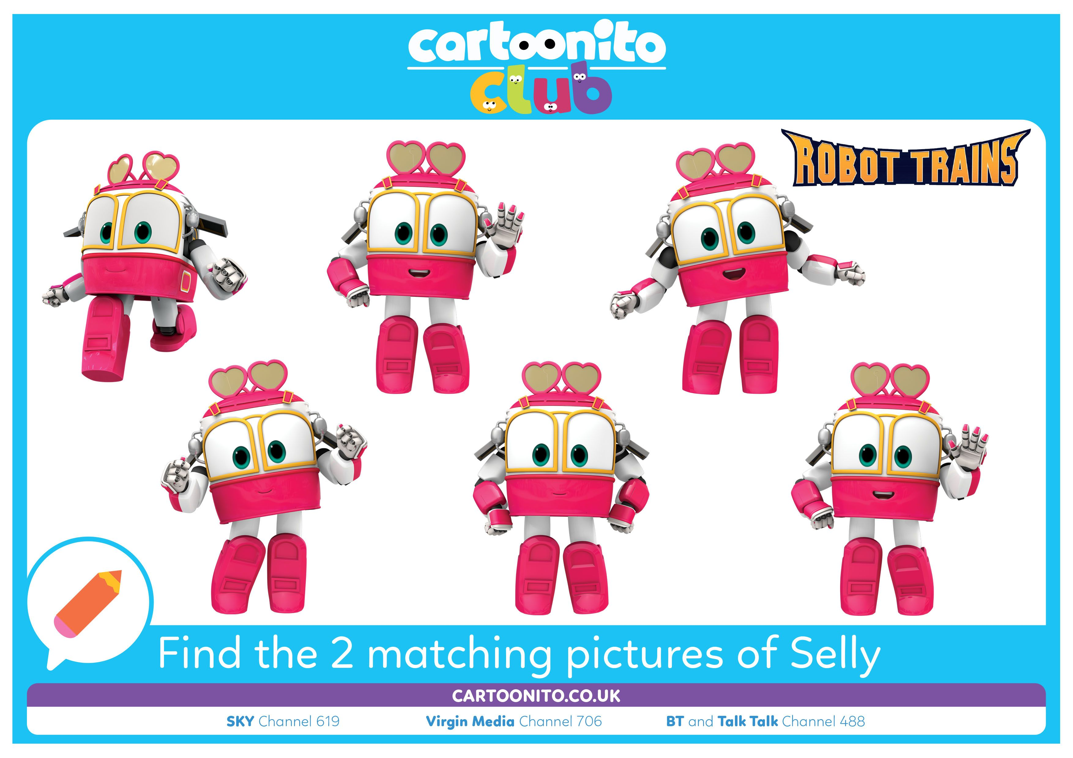Find the 2 matching pictures of Selly | Robot Trains