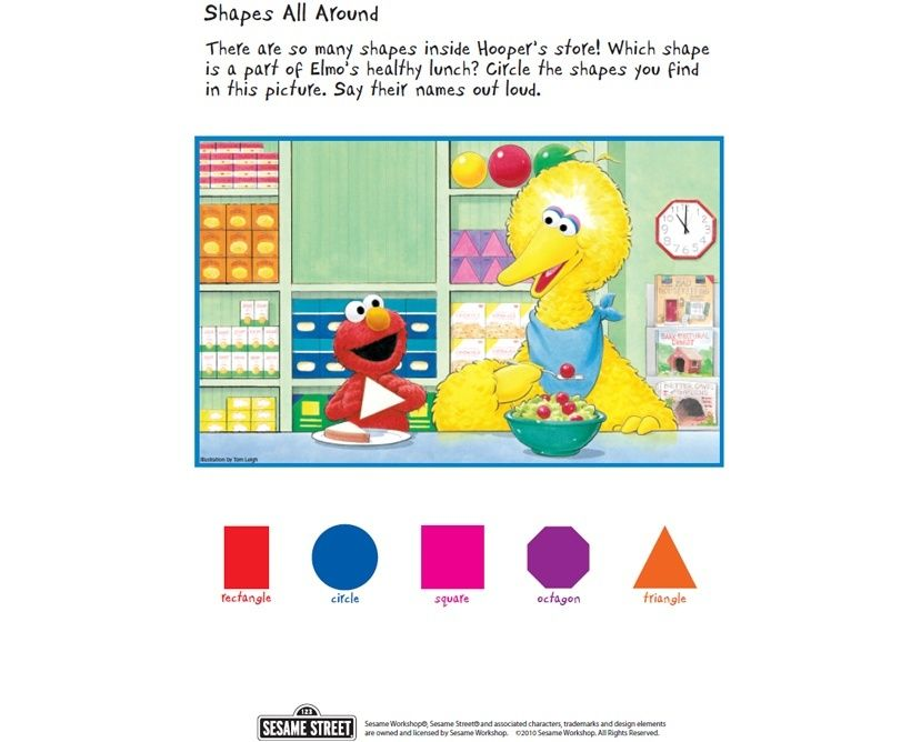 Shapes All Around | Free Sesame Street download and activity