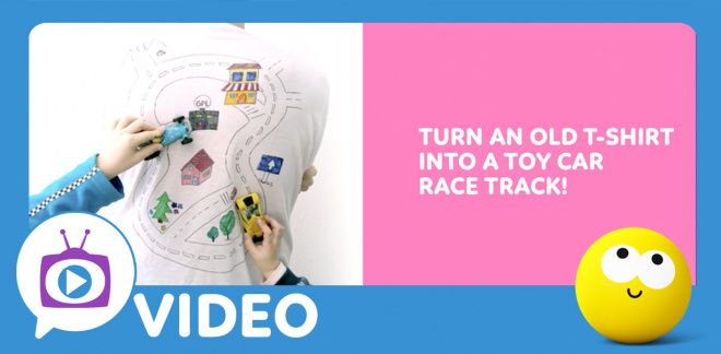 How to Make a T-Shirt Race Track - Cartoonito Club