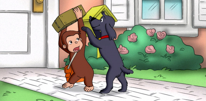 Protect the box - Curious George