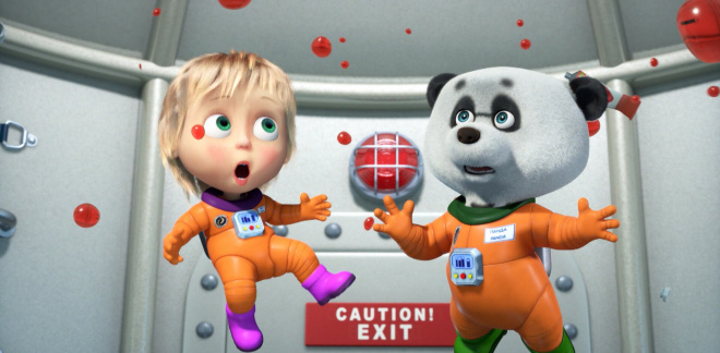 Off to space! - Masha and The Bear