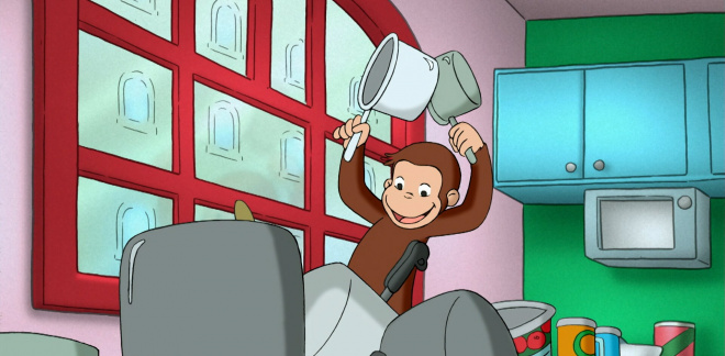 George the noise maker - Curious George