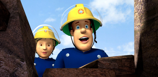 Rocky cliff rescue - Fireman Sam
