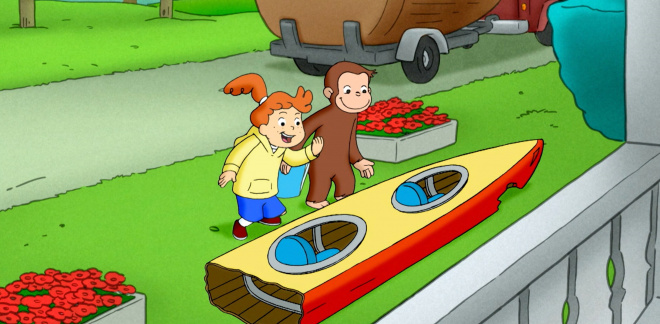 Build a race car - Curious George