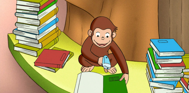 George's library - Curious George