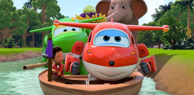 The animals want our fruit! - Super Wings
