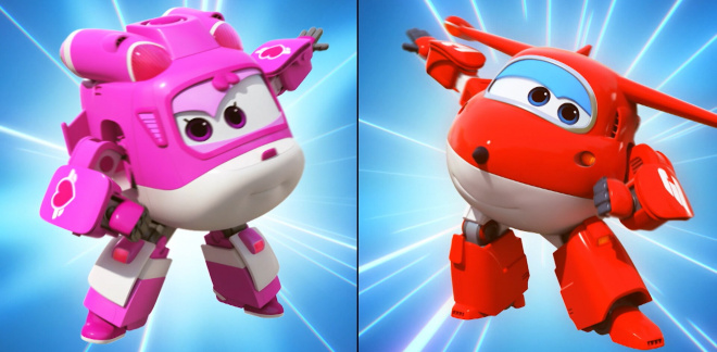 Statues fly off - Super Wings