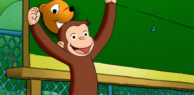 George the score keeper! - Curious George
