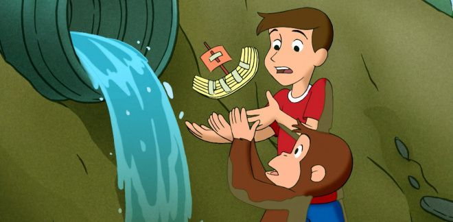 Come back boat - Curious George