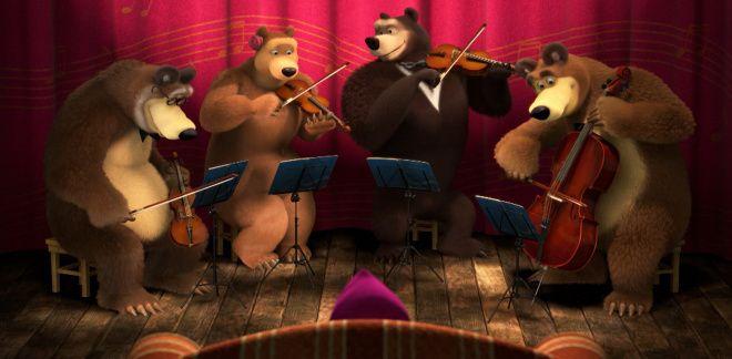 Family violinists - Masha and The Bear