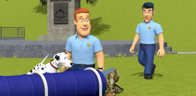 Chicken and obstacles - Fireman Sam