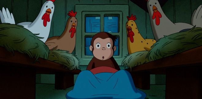 Chicken lay eggs! - Curious George