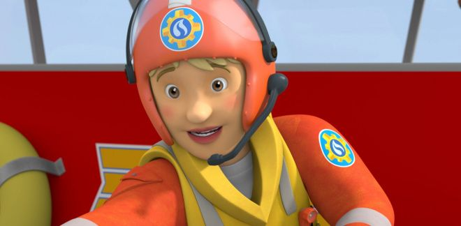 Dinosaurs and water canons - Fireman Sam