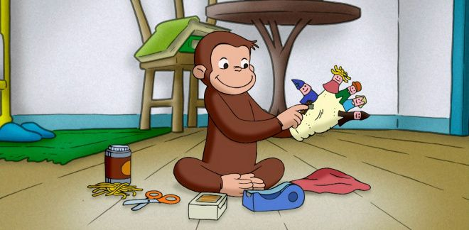 Finger puppets - Curious George