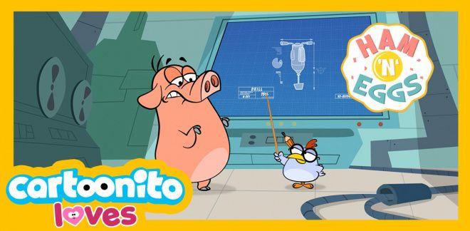Ham 'N' Eggs -  The drill - Cartoonito Loves...