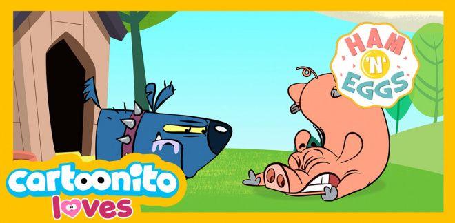 Ham 'N' Eggs -  The pogo stick - Cartoonito Loves...