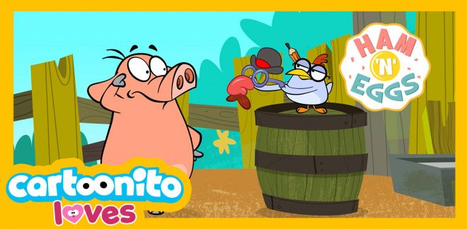 Ham 'N' Eggs -  The disguise - Cartoonito Loves...