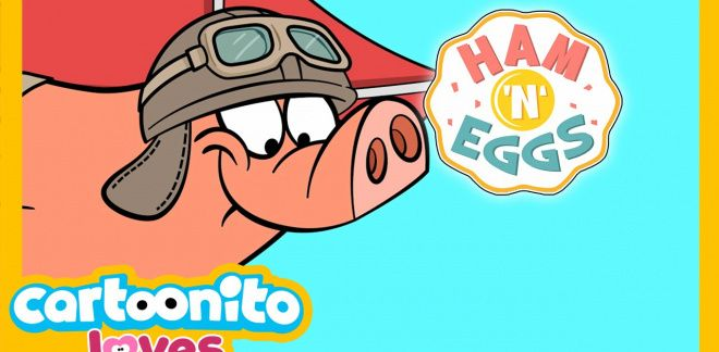 Ham 'n' Eggs - The kite - Cartoonito Loves...