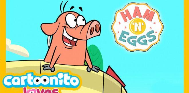 Ham 'n' Eggs - The rocket - Cartoonito Loves...