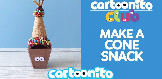 How to make a cone snack - Cartoonito Club