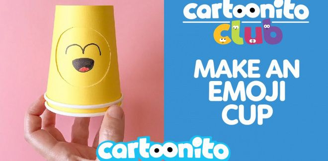 How to make an emoji cup - Cartoonito Club