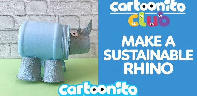 How to make a sustainable rhino - Cartoonito Club