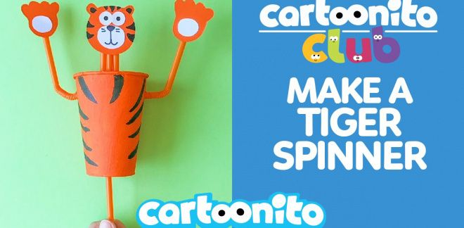 How to make a tiger spinner - Cartoonito Club