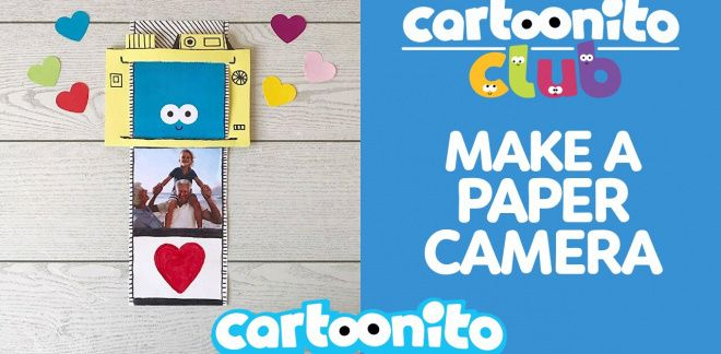 How to make a paper camera - Cartoonito Club