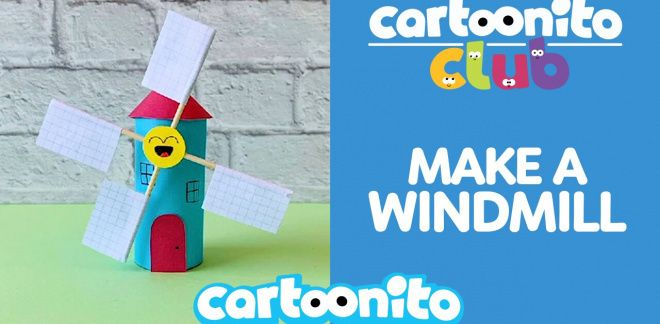 How to make a paper windmill - Cartoonito Club